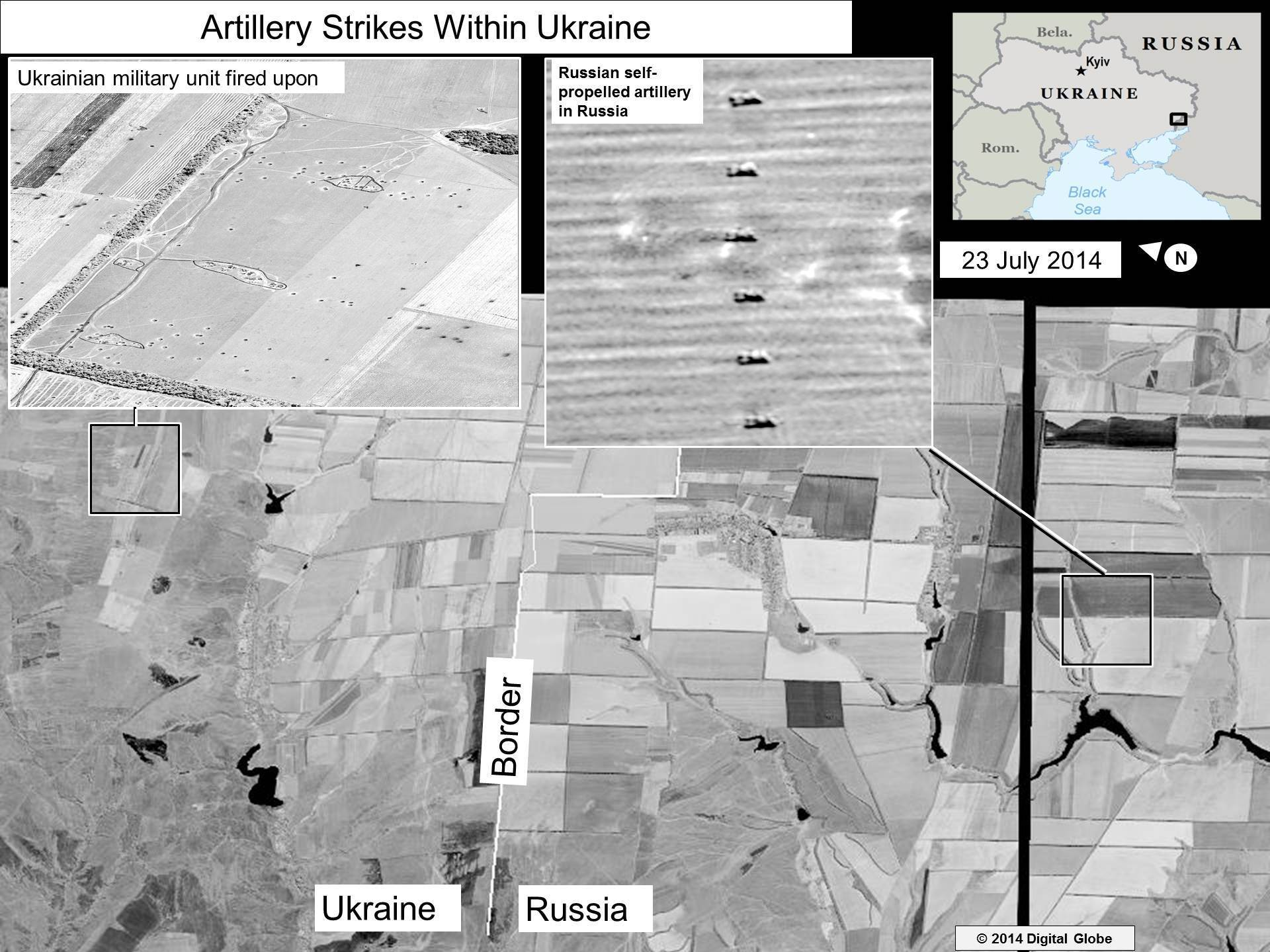 U.S.: Satellite Images Show Russian Rockets Hitting Ukraine