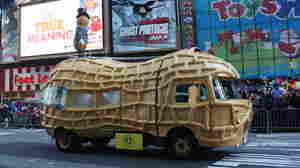 The Planters Nutmobile, seen here taking a starring turn at the Macy's Thanksgiving Day Parade, is hitting the road for a yearlong trip across the U.S.