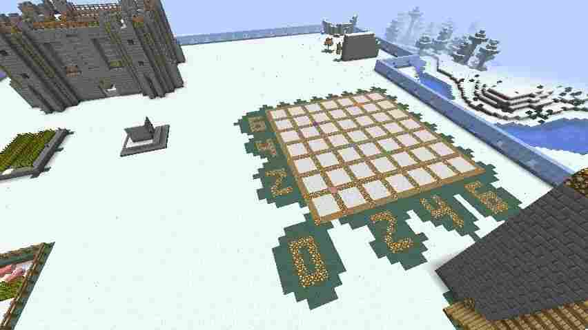 Students in one 5th-grade class in Louisville have been experimenting with grids by using the game Minecraft. Various plates on the grid (above) light up when they're stepped on.
