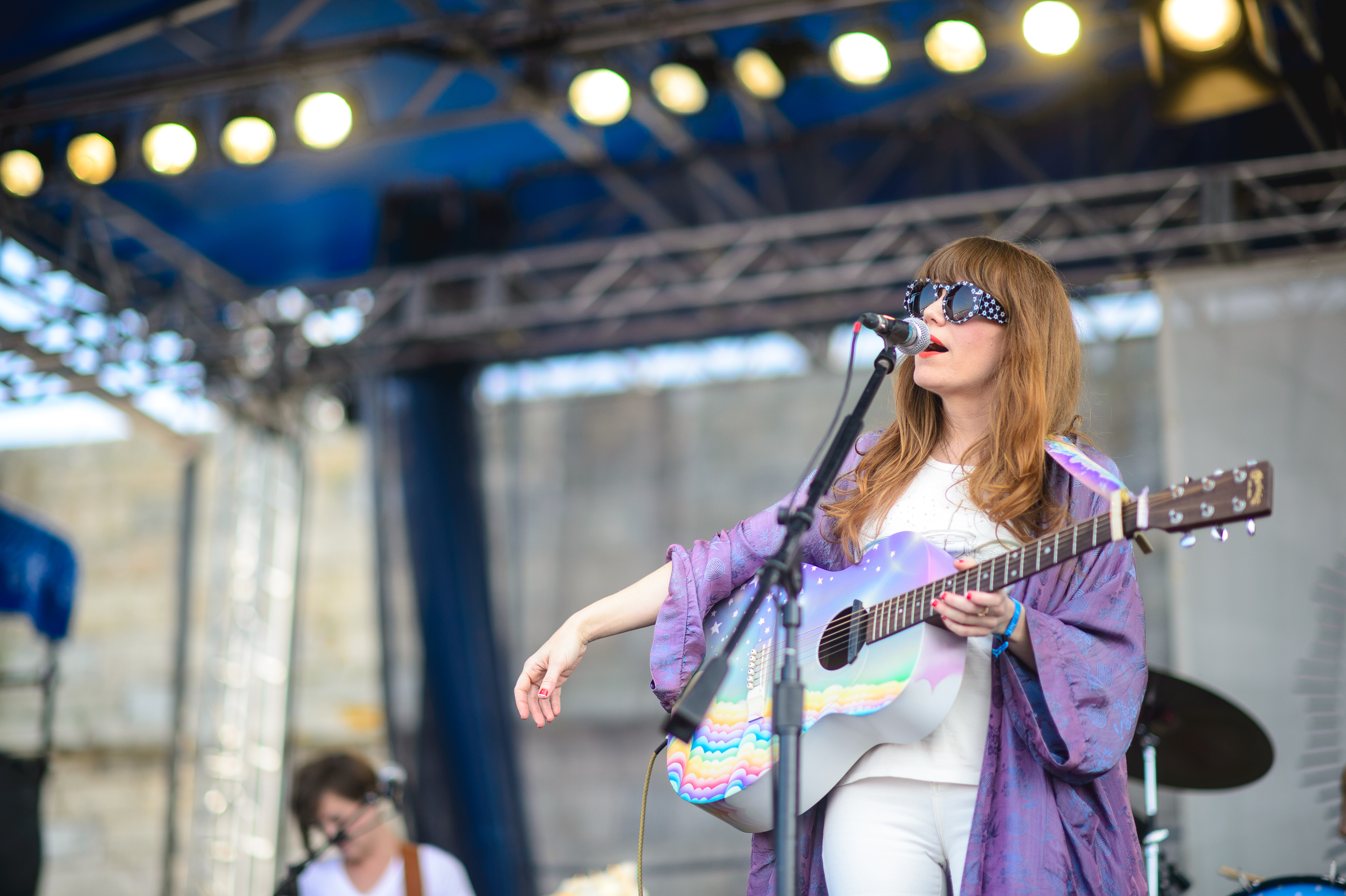 We were all jealous of Jenny Lewis' rainbow-cloud guitar and purple robe.