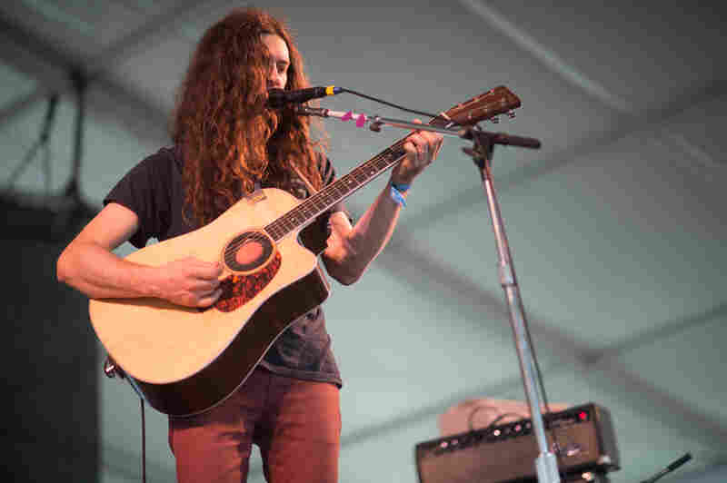 Kurt Vile's effects pedals went out, so Newport was treated to a slightly (very slightly) less psychedelic set.