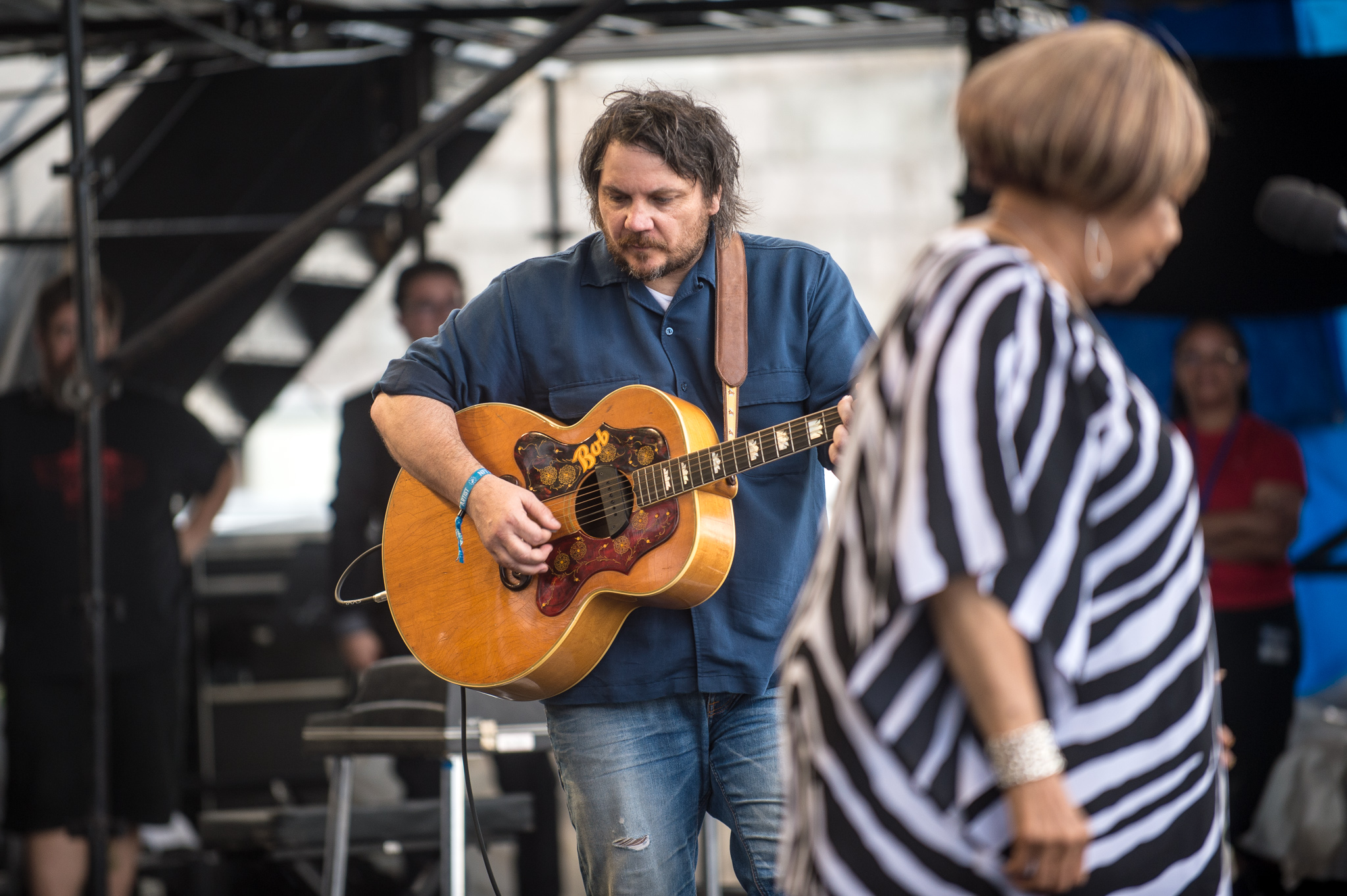 Mavis Staples was everywhere at Newport! Here she is with Jeff Tweedy.