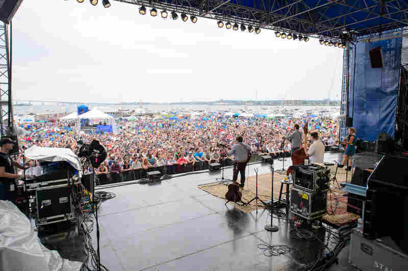 A reunited Nickel Creek celebrated its 25th anniversary together at the Newport Folk Festival.