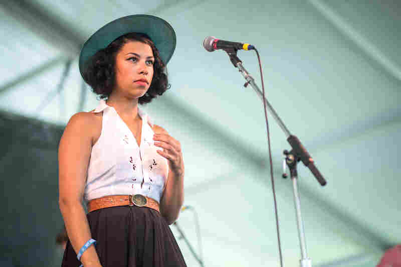 """""""Sorry to be so dismal in the daylight."""" PHOX's Monica Martin was ever self-deprecating, but incredibly sweet."""