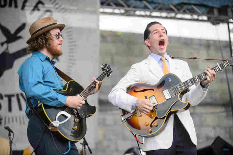 There was jitterbugging during Pokey LaFarge's set.
