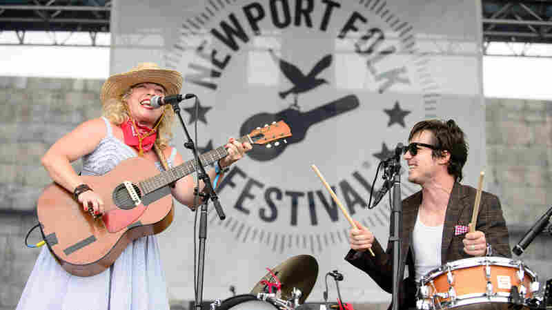 Cary Ann Hearst and Michael Trent of Shovels and Rope perform at the 2014 Newport Folk Festival.