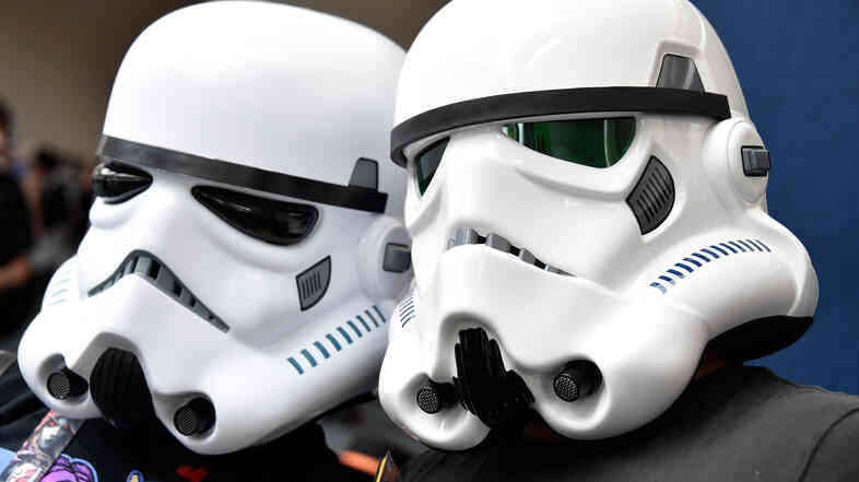 Fans dressed as storm troopers from Star Wars attend this year's Comic-Con event in San Diego.
