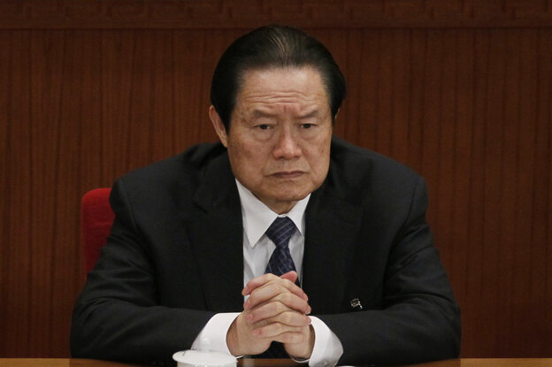 Zhou Yongkang, who at the time was Chinese Communist Party Politburo Standing Committee member in c