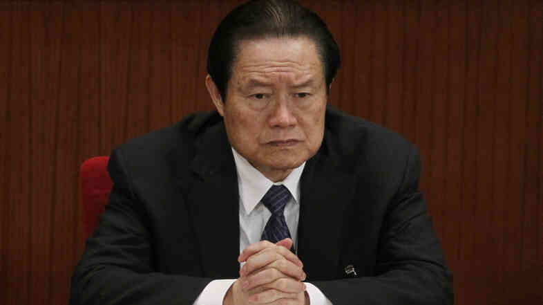 Zhou Yongkang, who at the time was Chinese Communist Party Politburo Standing Committee member in charge of security, attends a plenary session of the National People's Congress at the Great Hall of the People in Beijing, China in 2012.