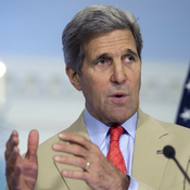 U.S. Secretary of State John Kerry speaks to reporters Tuesday at the State Department in Washington, D.C.