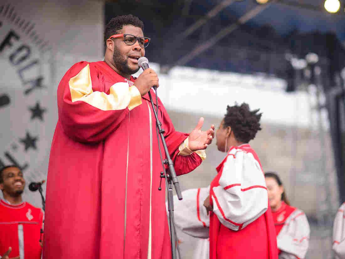 The Berklee Gospel & Roots Choir performs at the 2014 Newport Folk Festival.