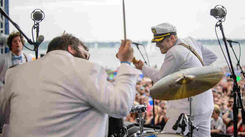 Deer Tick performs at the 2014 Newport Folk Festival.