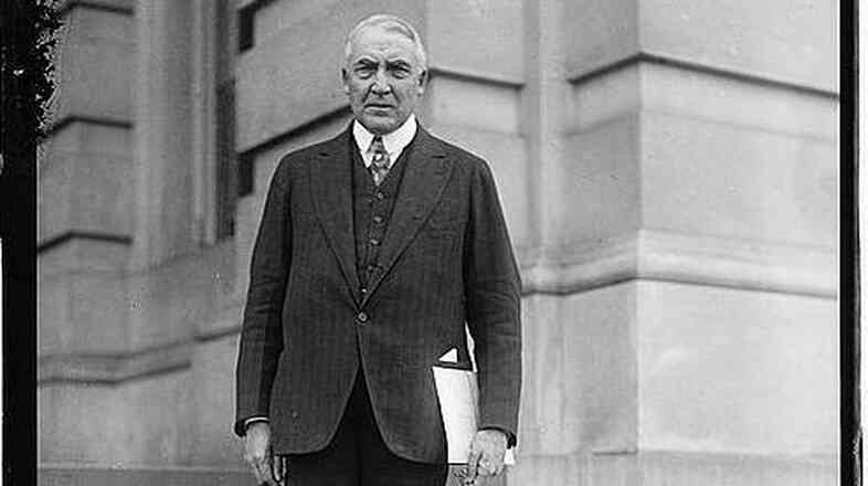 A portrait of then-Sen. Warren G. Harding a few years prior to being elected president in 1920. Harding typically ranks near the bottom of U.S. presidents — but a steamy trove of love letters is putting him back in the public eye.