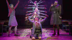 Matilda is currently being performed on both Broadway in New York, pictured here, and the West End in London. In New York, according to the Broadway League, the average ticket price for all shows just crossed $100 for the first time.