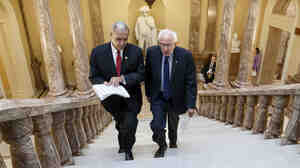 The House easily approved a deal to help veterans hammered out by Florida GOP Rep. Jeff Miller (left) and independent Sen. Bernie Sanders of Vermont