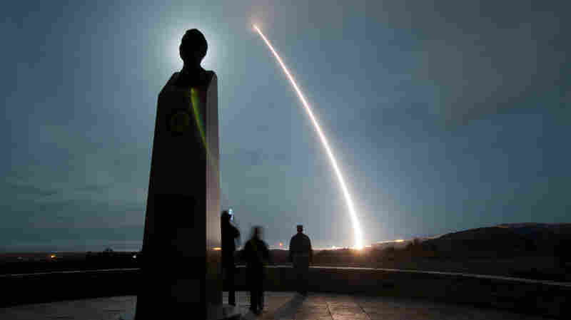 A Minuteman III intercontinental ballistic missile can hit almost any target on earth ... but only if it flies through Russian airspace. This unarmed test version was launched from Vandenberg Air Force Base in California.