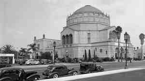 "The Wilshire Boulevard Temple (pictured above circa 1939) was dedicated 85 years ago in 1929. Rabbi Steve Leder says, ""This was the Los Angeles Jewish community's statement to itself — and to the majoritarian culture that surrounded it — that 'We are here, and we are prepared to be a great cultural and religious and civic force in our community.' """