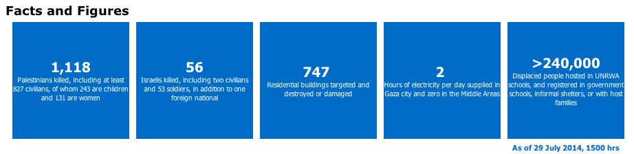 The U.N. breakdown of Palestinian deaths.