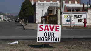 "Residents fear that the economy of Belhaven, N.C., will collapse because its hospital closed. ""How many people go retire somewhere where it doesn't even have a hospital?"" asks the mayor."