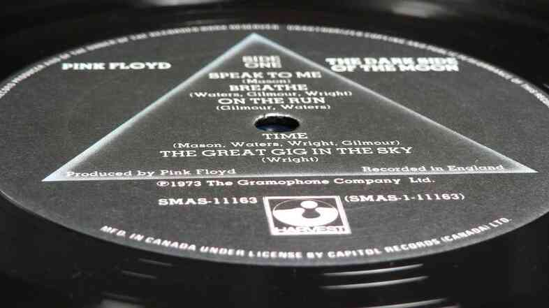 When Pink Floyd released Dark Side of the Moon in 1973, it was a breakthrough for the band's label, Harvest Records.