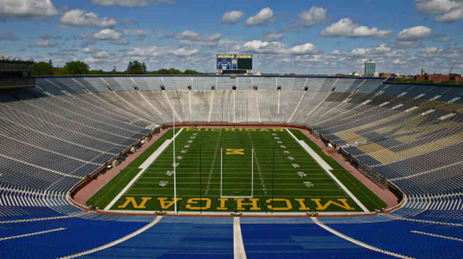 "Michigan Stadium, also known as ""The Big House."""