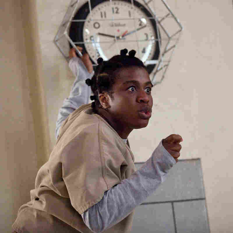 """""""She is 100 percent and authentically herself, always, at all times,"""" Uzo Aduba says of her Orange Is the New Black character, """"Crazy Eyes."""""""