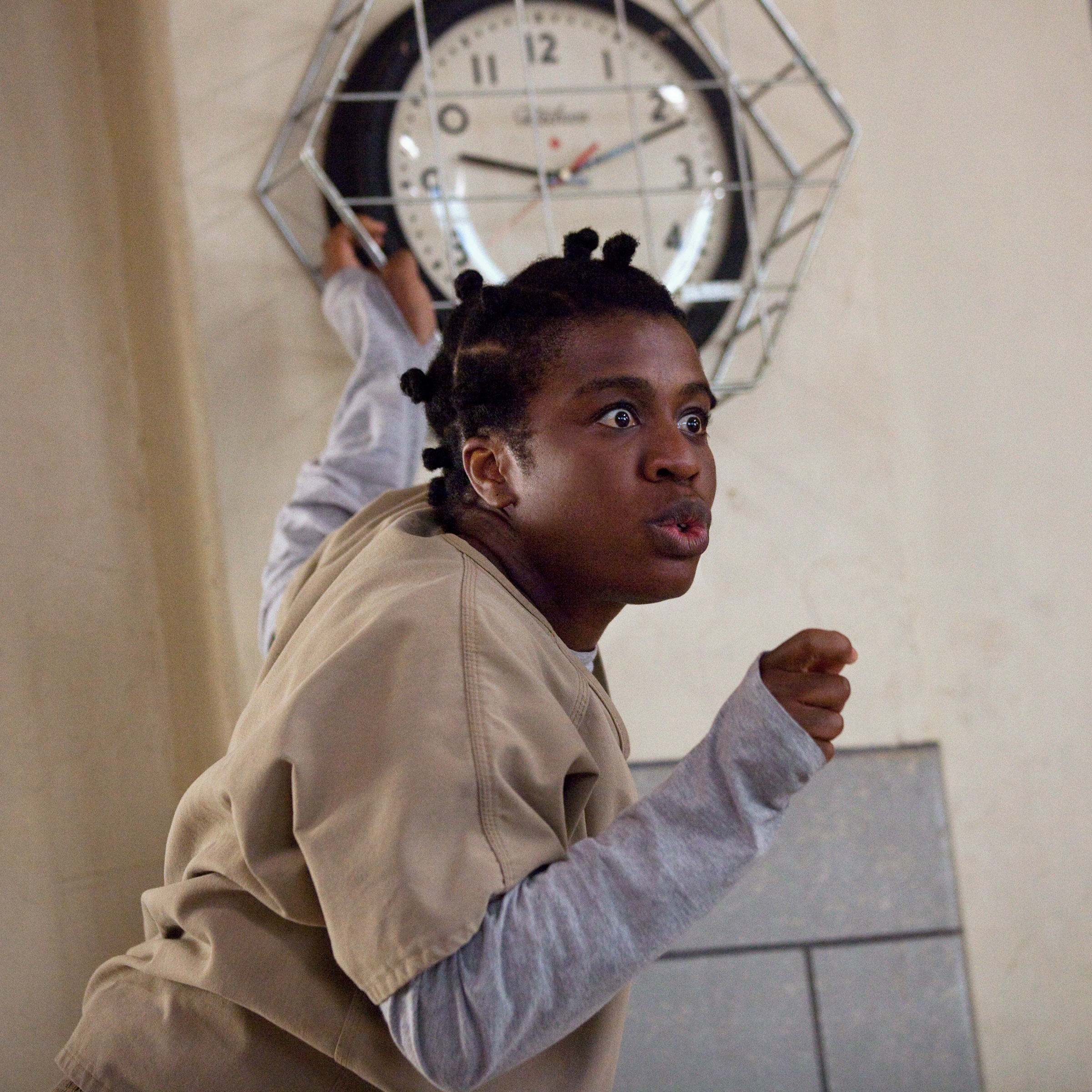 Uzo Aduba as 'Crazy Eyes' in the new season of Orange Is The New Black.