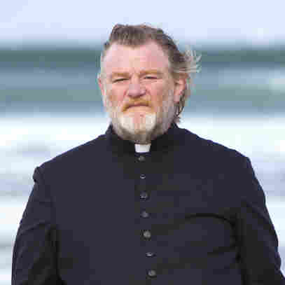 Brendan Gleeson, as tough-minded Father James, faces a death threat from an angry parishioner in the darkly comic new Calvary.