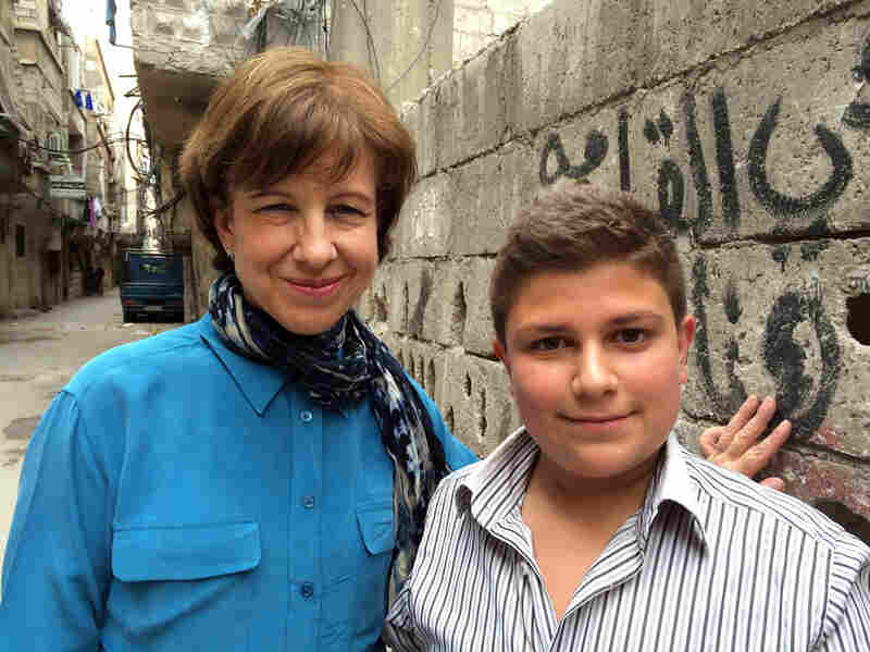 Doucet also tells 14-year-old Jalal's story. Unlike many Syrian children, Jalal is able to attend dance classes and play in the streets of his Damascus neighborhood.
