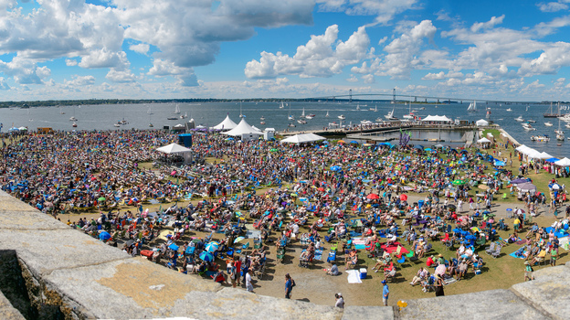 The audience at the main stage of the Newport Jazz Festival. (Adam Kissick for NPR)