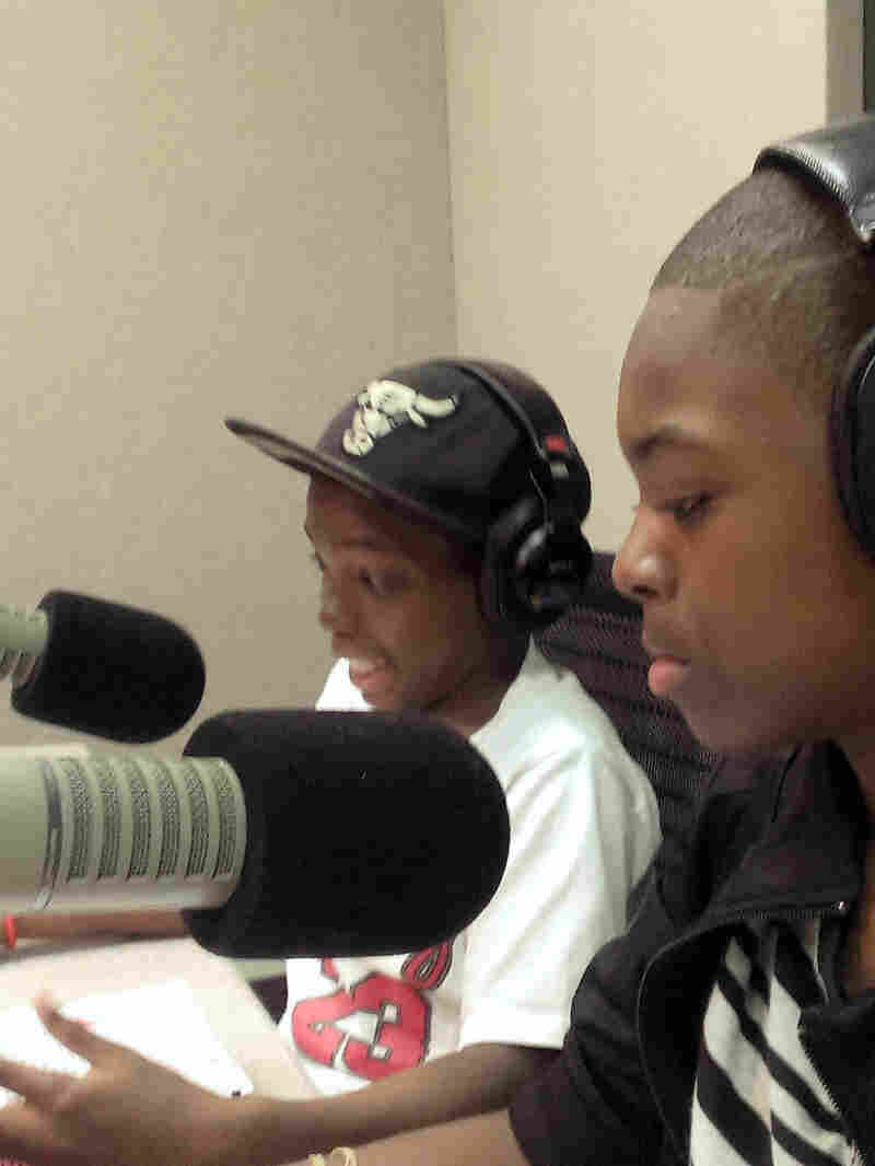 Students Rondayle Sanders and Damiontaye Rodgers spoke to NPR's Scott Simon from Chicago this week.