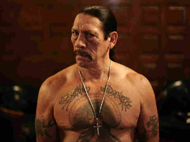 Danny Trejo's big break came about partly because of a prison tattoo on his chest, depicting a woman wearing a sombrero. Thanks to that distinctive mark, a screenwriter recognized him as a champion boxer.
