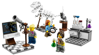 A product image shows the new Research Institute playset from Lego, which features women in roles as three scientists. In January, the company was criticized by a girl who said all its female characters were