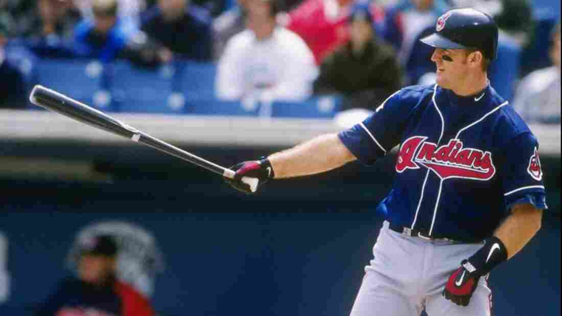 First baseman Jim Thome stands in at the plate in a 1997 Cleveland Indians game. The team signed Thome to a special contract this weekend so he could retire with the team that brought him to the big leagues.
