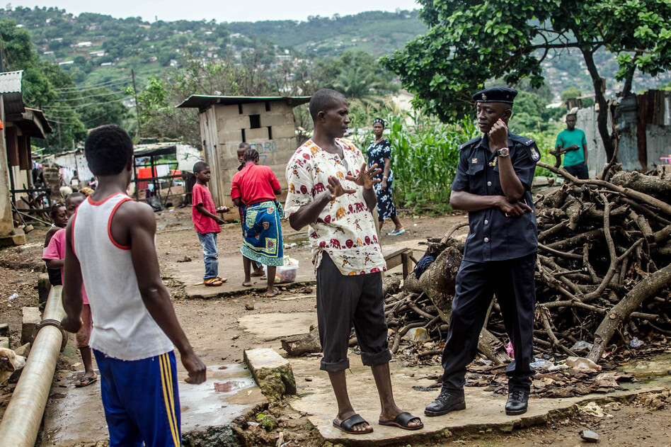 An Ebola Quarantine In Freetown: People Come And Go As They Wish  WBUR News