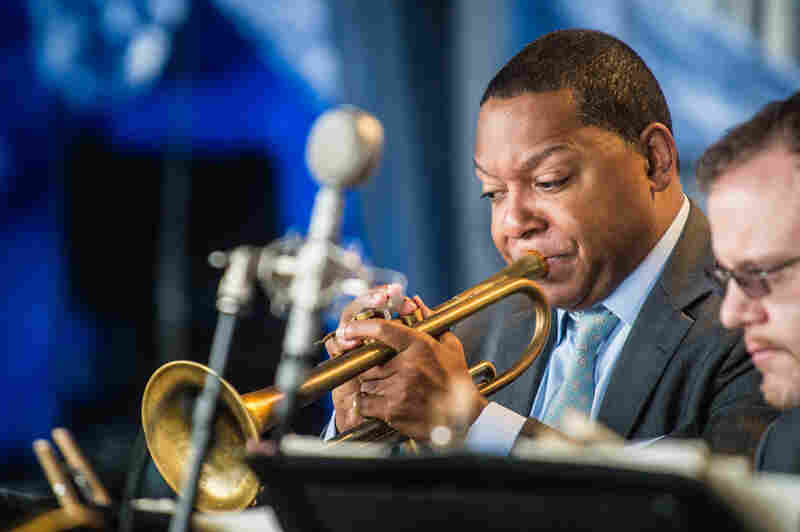 Trumpeter Wynton Marsalis and the Jazz at Lincoln Center Orchestra played a crowd-pleasing set of classics, including nods to the late Horace Silver and Dave Brubeck.