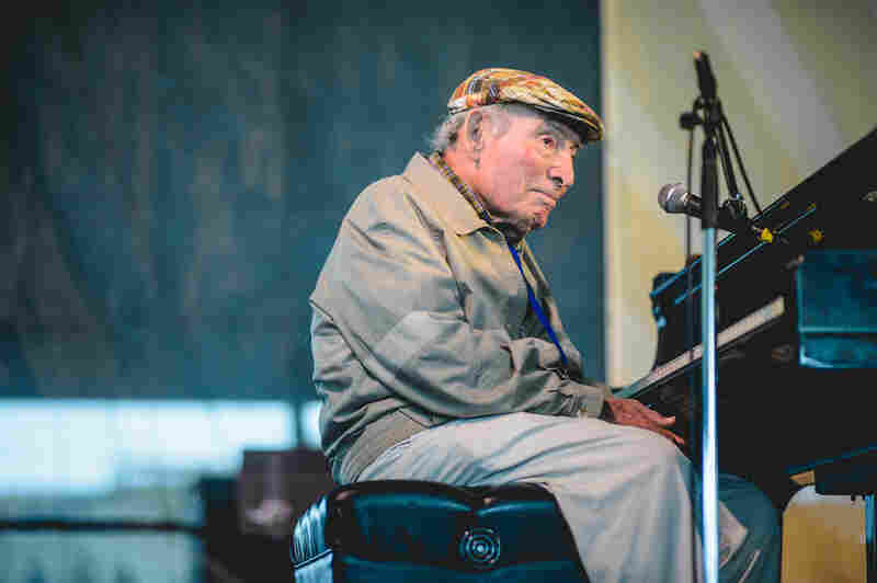 Festival founder George Wein, 88, made his traditional appearance on piano, performing with a group of all-stars.