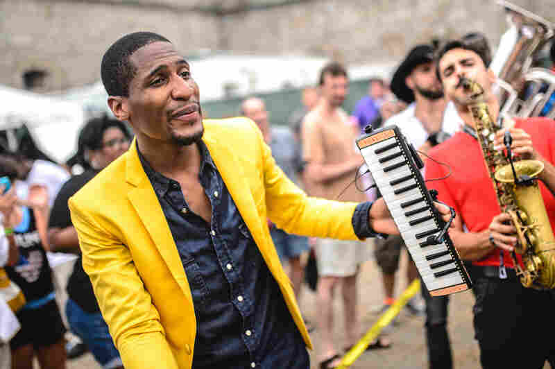 Batiste brought his band out into the audience with him.