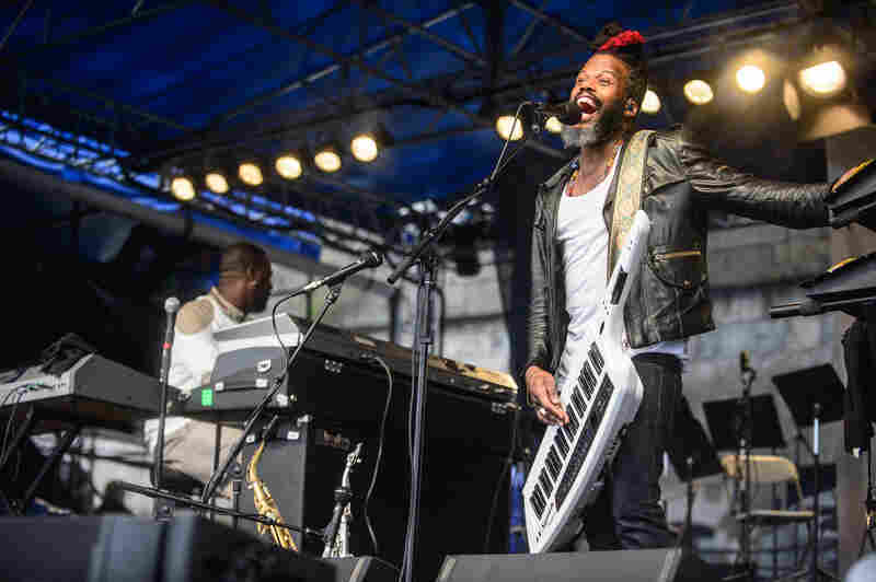 The Robert Glasper Experiment, with Casey Benjamin on vocoder and saxophone, also returned to Newport this year.