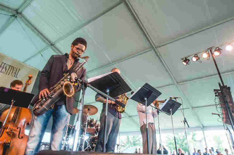 Pianist Vijay Iyer presented his sextet, with the three-horn lineup of Mark Shim (tenor saxophone), Steve Lehman (alto saxophone) and Graham Haynes (cornet).