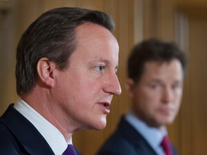 """A letter from British Prime Minister David Cameron (left) states that """"the Government has not banned prisoners' access to books."""""""