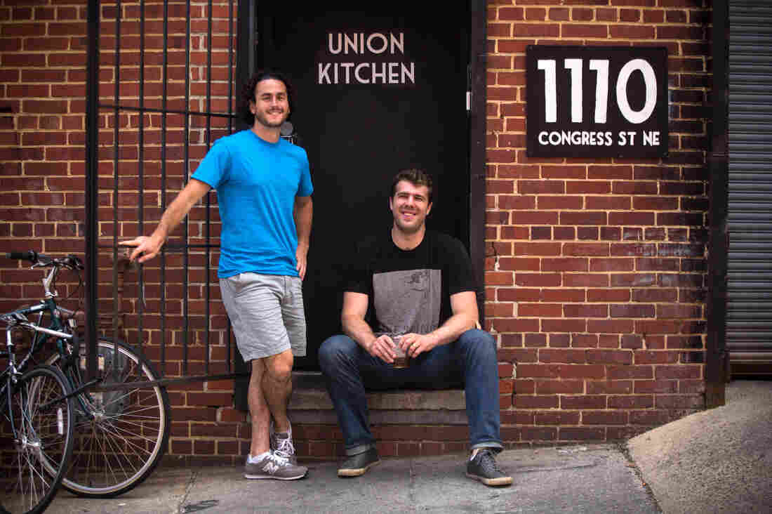 Jonas Singer (left) and Cullen Gilchrist co-founded Union Kitchen, a food incubator in Washington, D.C.