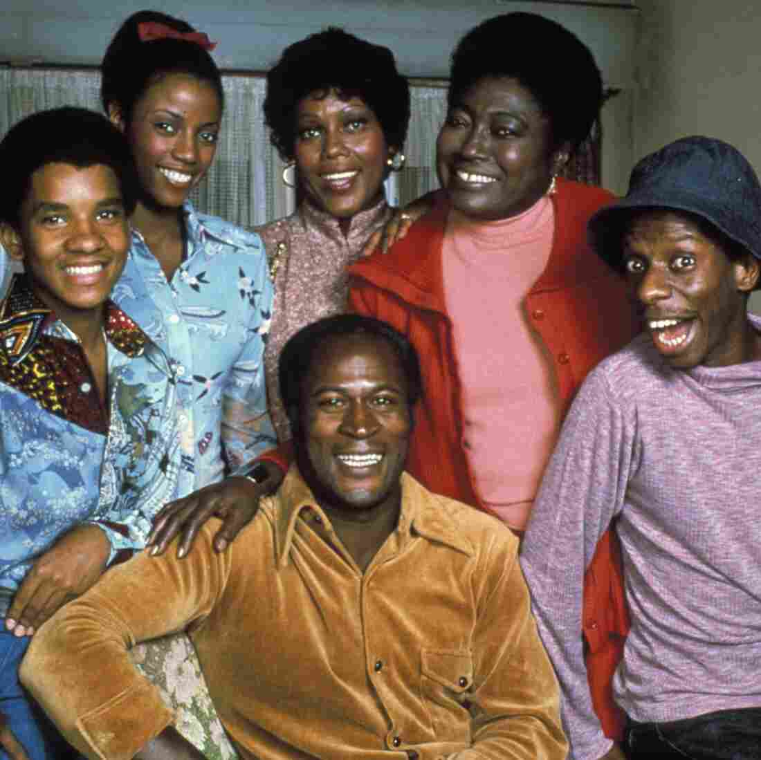 The Evans family from Good Times. Bern Nadette Stanis is second from left.