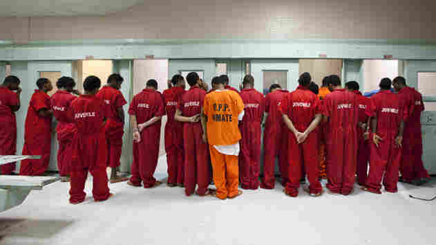 Juvenile wing of the Orleans Parish Prison in Louisiana. In Memphis, the juvenile court system was criticized for inadequate defense of their clients and treating minority children more harshly.