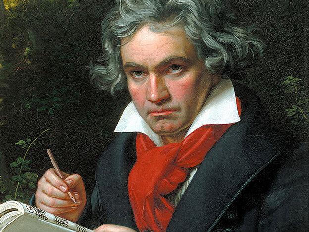 Portrait of Beethoven by Joseph Karl Stieler, ca. 1818.