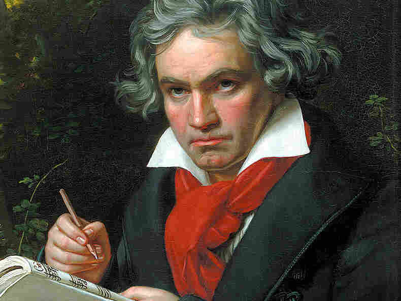 A portrait of Beethoven by Joseph Karl Stieler, ca. 1819.