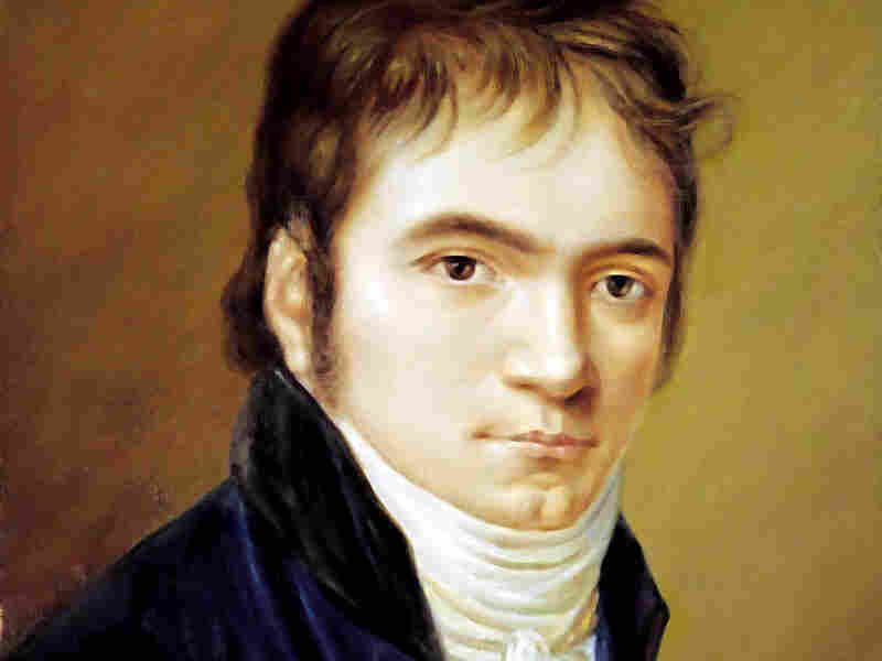 A portrait of Beethoven by Christian Horneman, from 1803.