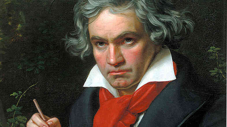 Portrait of Beethoven by Joseph Karl Stieler, ca. 1818.