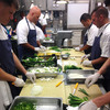 White House chefs chop a lot of vegetables to prepare for a dinner of 400 Tuesday night.