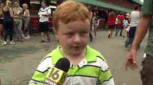 """""""I don't watch the news because I'm a kid,"""" Noah Ritter, 5, said in an interview at the Wayne County Fair in Pennsylvania. He went on to show that he belongs on TV."""